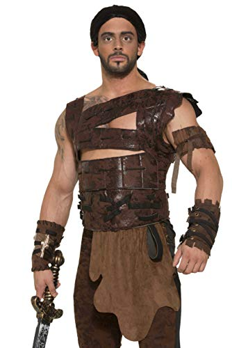 Forum Novelties - CS972856 - Armure guerrier en simili cuir - taille unique