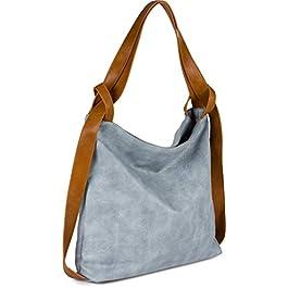styleBREAKER Sac à main pour dames en simili cuir bicolore, fermeture à glissière, cabas, sac à bandoulière, sac à dos…