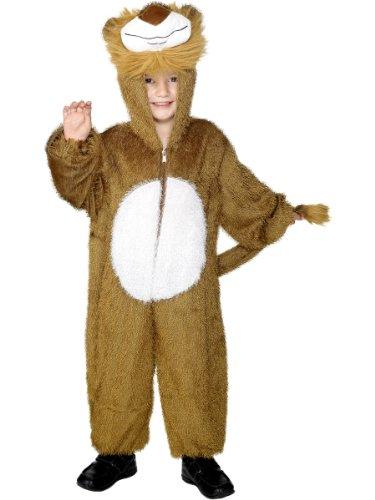 Smiffys Costume de lion, marron, comprend la combinaison pantalon avec capuche