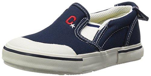 [キャロット] スニーカー 運動靴 撥水 男の子 女の子 14~21cm 0.5cm有 キッズ CR ST14 ネイビー 17.5 cm 2E