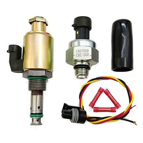 Triumilynn 7.3L Fuel Injection Pressure Regulator IPR Valve + ICP Control Sensor Fits Ford F250 F350 F450 F550 F650 F750 E350 E450 E550 Part NO. 1829856C91 1841217C91