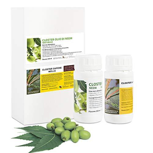 CLOSTER Set Jabón Potasico y Aceite de Neem para Plantas