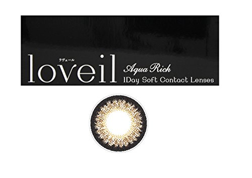 ラヴェール(loveil) 1day 1箱30枚入 14.2mm (±0.00(度なし),ミッドナイトアンバー)