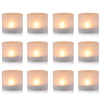 Nuptio Clear Glass Votive Candle Holders Set