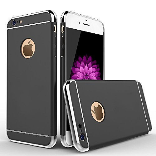 Custodia iPhone 6 Custodia iPhone 6s Custodia , Case Cover 3-in-1 Placcatura Opaco plating Matte Material per iPhone 6 / iPhone 6s Smartphone (nero)