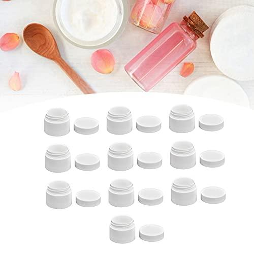Récipient rechargeable, matériaux de haute qualité Bouteille de crème 10 g Bouteille de crème avec doublure intérieure et couvercle pour cosmétiques