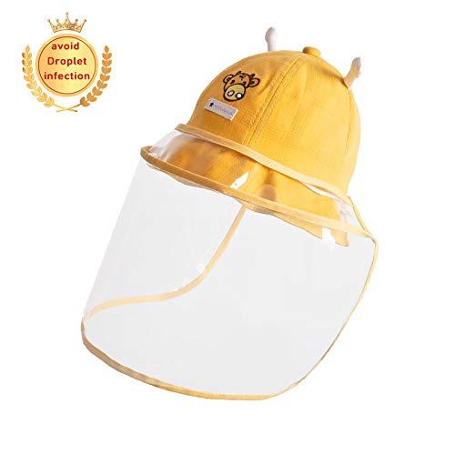 MALY Cap bébé Anti Enfants, Go Out Home Essentials Boy Bonnet de Douche Protection de Baseball Maman Non Leaking pour prévenir Gouttelettes Anti Fog Cap UV,Jaune,50cm