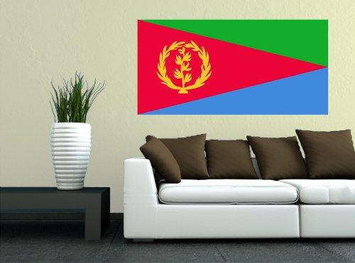 Kiwistar Wandtattoo Sticker Fahne Flagge Aufkleber Eritrea 80 x 40cm