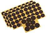 Metafranc Filz-Gleiter-Sortiment 104-teilig - selbstklebend - braun - Effektiver Schutz Ihrer Möbel & Stühle / Möbelgleiter-Set für empfindliche Böden / Stuhlgleiter / Bodengleiter / 645286