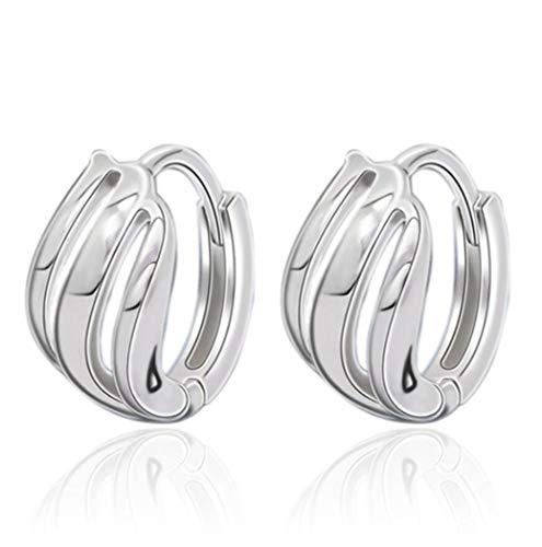 Wiftly Women's Girls' Earrings 925 Silver Simple Hollow Hoop Earrings for Women, Christmas, Valentine's Day, Hypoallergenic