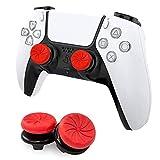 MAXKU FPSフリーク PS5 PS4 コントローラー用 親指グリップキャップ 可動域アップ プレイステーション5コントローラ用 FPSフリーク 2つのパフォーマンスサムスティック (赤)