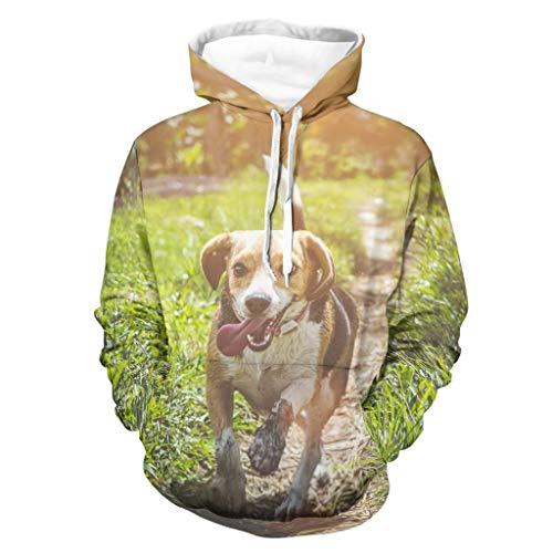Knowikonwn Sudadera con capucha para hombre de pelo de alambre Puntero Griffin personalizada - Pet Dog Comfort Jacket blanco 5xl