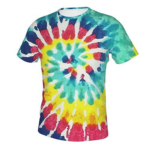 Short Sleeve Shirt Tops for Men Boys Teens Adult, Regular Big and Tall Sizes Tie Dye Print S