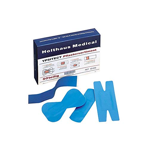 Holthaus Medical YPSITECT® detectable Pflaster Pflasterstrips Wundpflaster, 50-teilig