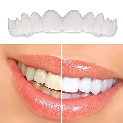 ZZZYT Carillas Dentales CosméTicos Flexibles Los Dientes De La Sonrisa De Silicona Se Encajan En Las De La Superior Inferior Segura