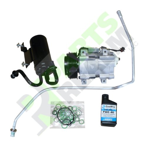 Parts Realm CO-0220AK New A/C AC Compressor Kit Dodge Ram R2500 R3500 5.9L Diesel, 6.7L Trucks 2006 2007 2008 2009 Kit Comes with A/C AC Compressor, Accumulator, Liquid Line with Orifice, Oil O-rings