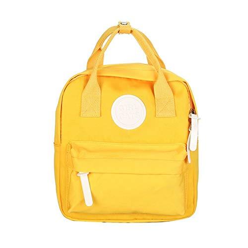 Ys-s Personalización de la Tienda Mini Mochila Infantil Cunning Lightweight Peso Impermeable Bolsa de Regalo Moda Fuera de Viaje Mochila (Color : Yellow, Size : 26X24X5CM)