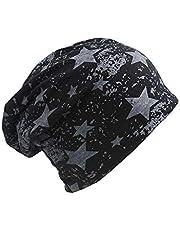 QNN Sombreros de Invierno, Beanie Hat Casual Star Hombres Mujeres Knit Beanie de Otoño Hip Hop Fashion Warm Hat Gorras Sombreros de Niña,Negro
