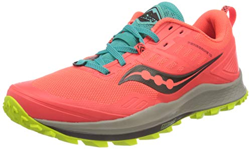 Saucony Women's S10556-35 Peregrine 10 Running Shoe, Vizired | Citron - 9.5 M US