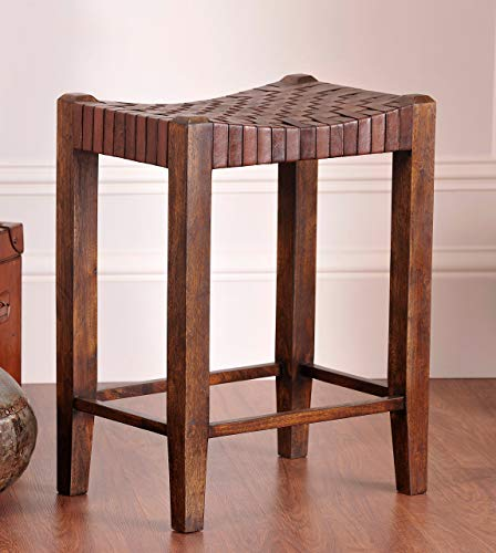 William Sheppee Saddle Seat 26' Counter Stool, Sienna Brown