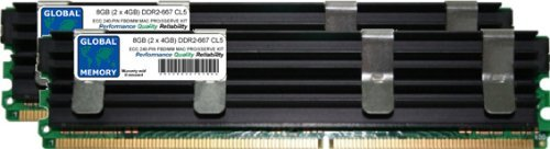 8GB (2 x 4GB) DDR2 667MHz PC2-5300 240-PIN ECC FULLY BUFFERED (FBDIMM) MEMORY RAM KIT FOR MAC PRO (ORIGINAL/2006)