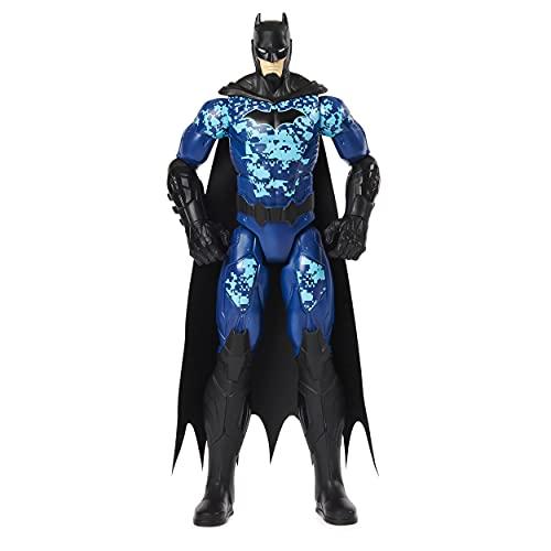 DC Comics Batman 12-inch Bat-Tech Tactical Action Figure (Blue Suit), Kids Toys for Boys Aged 3 and up