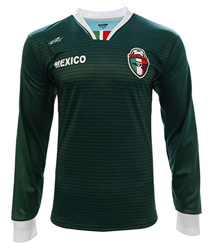 Arza Sports Mexico Fan Soccer Jersey Long Sleeve (Small) Green