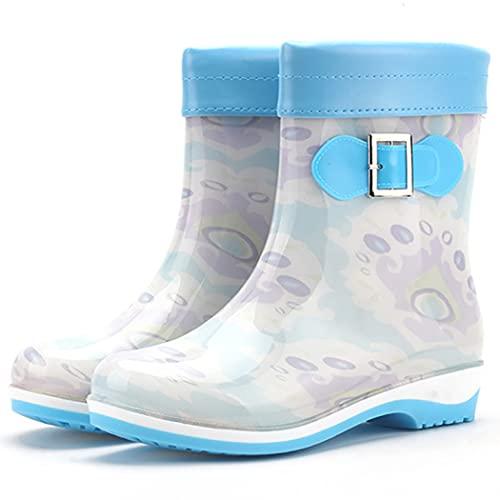 ZOYLINK Bottes De Pluie Mi-mollet Imprimé Imperméable Antidérapant En Plastique Mode Bottes De Pluie Protection Nouveauté Chaussures De Pluie Géniales