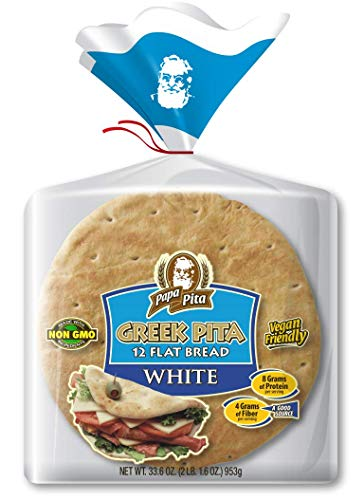 Papa Pita Greek Pita Flat Bread White 12 ct (33.6 oz total)