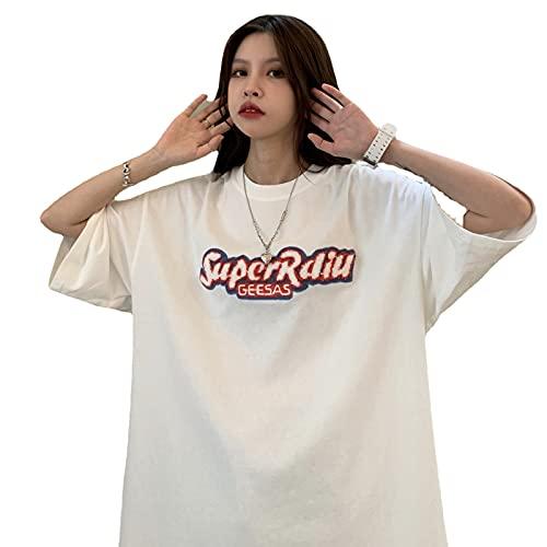 夏 韓国 tシャツ 韓国ファッション半袖tシャツ 韓国ファッション レディース 韓国 レディース tシャツ レディース 韓国 (白い)