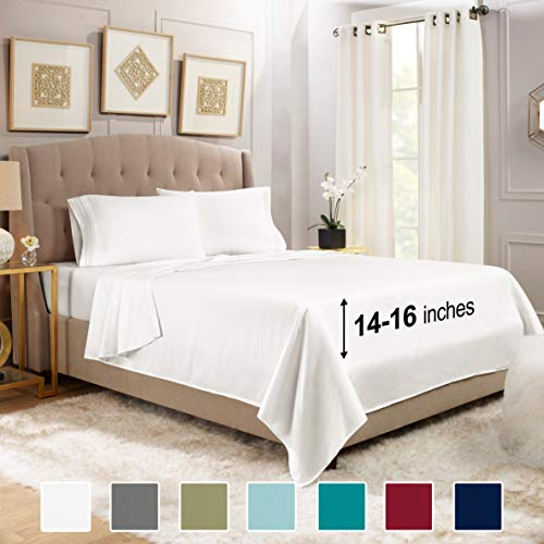 Empyrean Bedding Queen Bed Sheets Set - 4 Piece Sheets for Queen Size Bed - 14'-16' Fitted Queen...