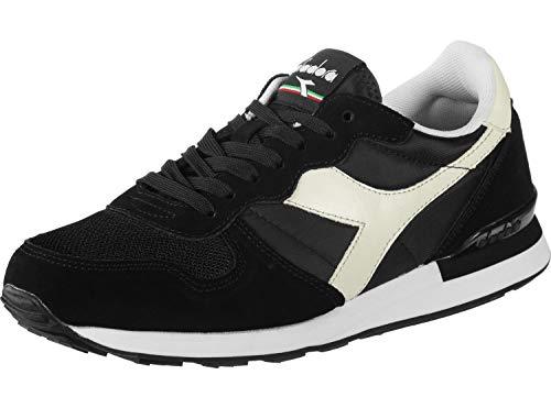 Diadora Unisex Low-Top Gymnastics Shoes, C0641 Black White, 10.5 US Women