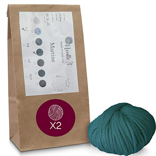 Needle It - Lotes de ovillos de lana multicolor y ultra suave...