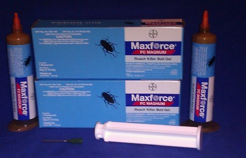 2 Tubes Maxforce FC Magnum Cockroach German Roach Pest Control Gel Bait 33 gram per tube w/ 1 Plunger ~~ 5 Times Stronger then Regular Maxforce FC Roach Gel ~~ Mata Cucarachas! THE NEW MAGNUM PACKAGED IN BLUE Garden, Lawn, Supply, Maintenance