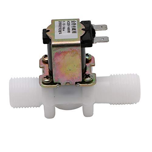 SHENYF Válvula Válvula solenoide eléctrica AC220V Magnético N/C Interruptor de Flujo de Entrada de Aire N/C N/C 1/2
