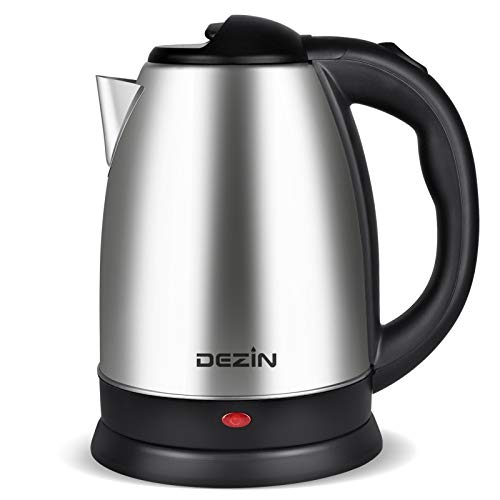 Dezin Electric Kettle Upgraded, 2L Stainless Steel Tea Kettle, Fast Boil Water Warmer with Auto Shut Off and Boil Dry Protection Tech for Coffee, Tea, Beverages
