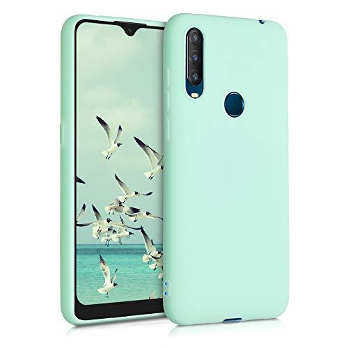 kwmobile Hülle kompatibel mit Alcatel 1S (2020) - Hülle Silikon - Soft Handyhülle - Handy Hülle in Mintgrün matt