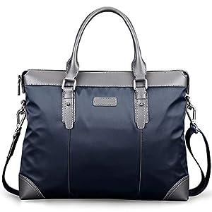 ビジネストートバッグ メンズ 就活 リクルート ビジネスバッグ メンズビジネスブリーフケースショルダーハンドバッグのラップトップバッグを使用してリムーバブルショルダーストラップ 一流の鞄職人が作る (Color : Blue, Size : 405*80*300mm)