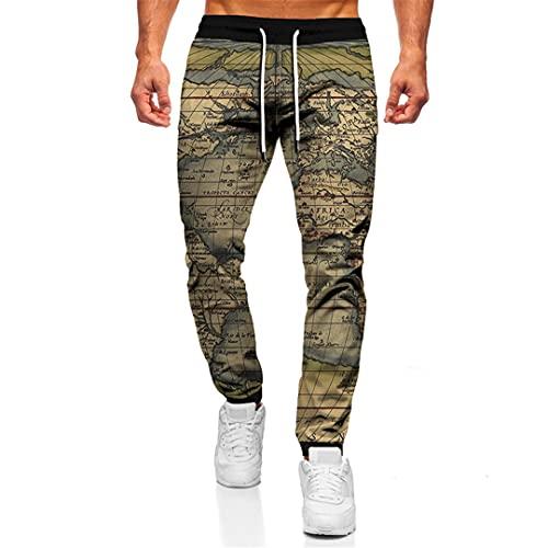BLACKHEI Unisex Retro Clásico 3D Impresión Jogger Pantalones Pantalones Casual Hip Hop Pantalones De Chándal Sueltos, Tta24-68, 27-32