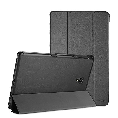 ProCase Samsung Galaxy Tab A 10.5 Case Cover (SM-T590 / T595 / T597), Slim Light Smart Cover Stand Hard Shell with Auto Sleep Wake, for Galaxy Tab A 10.5 Inch 2018 -Black