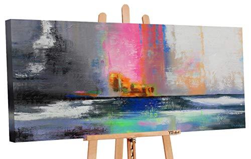 Oferta hasta 31.01 Art   Pintura acrílica equilibrio   Cuadros de lienzo pintado a mano   115 x 50 cm   Cuadro de pintura acrílica   Arte moderno   Lienzo   Ejemplar único   Gris