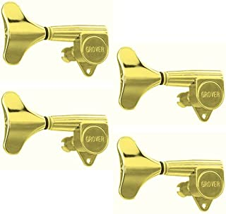 Left Handed 20:1 Ratio Grover Mini Bass Tuning Machines 4-In-Line Gold