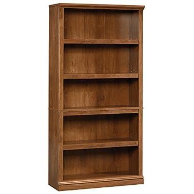 Sauder 5-Shelf Bookcase, Oiled Oak Finish