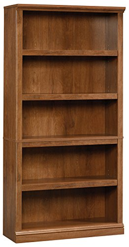 Sauder 5-Shelf Split Bookcase, Oiled Oak finish