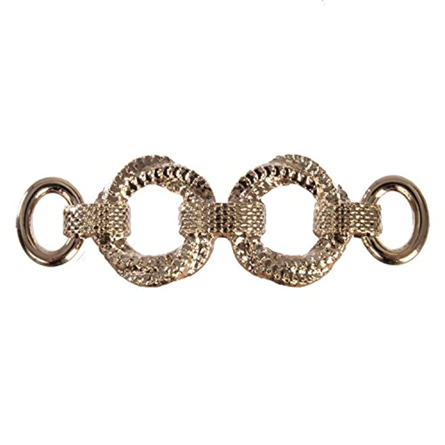 ABS Metal Plated - Decorative Herringbone Chain Link Ornament - Non Funtional - Gold