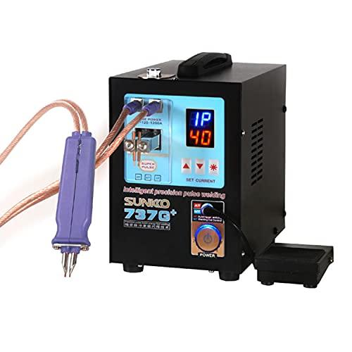 SUNKKO 737G+ Battery Spot Welder, Pulse Welding Machine for 18650 14500 Lithium Batteries Battery Pack Work With Nickel Strips 0.35mm,110V