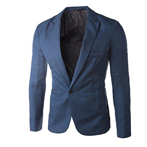 Deelin Charm heren business casual slim fit eenknops pak jas modieuze mantel eenkleurig blazer