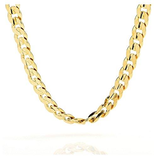 Cadena de oro de 18 quilates de 9 mm - Cadena cubana de