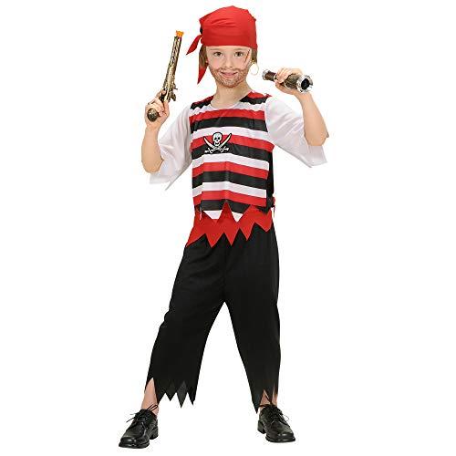 Widmann ? Costume de Pirate pour Enfant Exclusif (Chemise, Pantalon, Ceinture et Bandana)