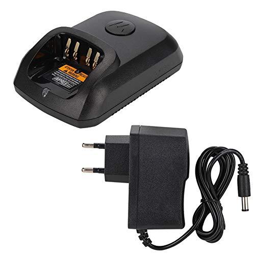 Sharainn Adaptador de Corriente, Cargador de energía por Radio bidireccional de 100-240 V con Base de Carga para Motorola XIR P8268 DP4400 DP4800 DP4801 DEP550, Cargador